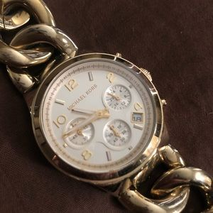 Gold Chain Michael Kors Watch Women's